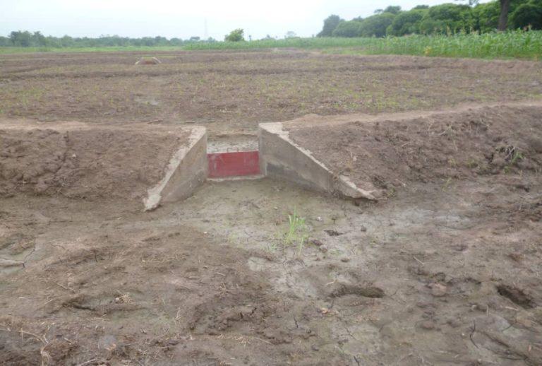 Janvier 2014, ouvrage de Vidande, site de riziculture de Madécali commune de Malanville