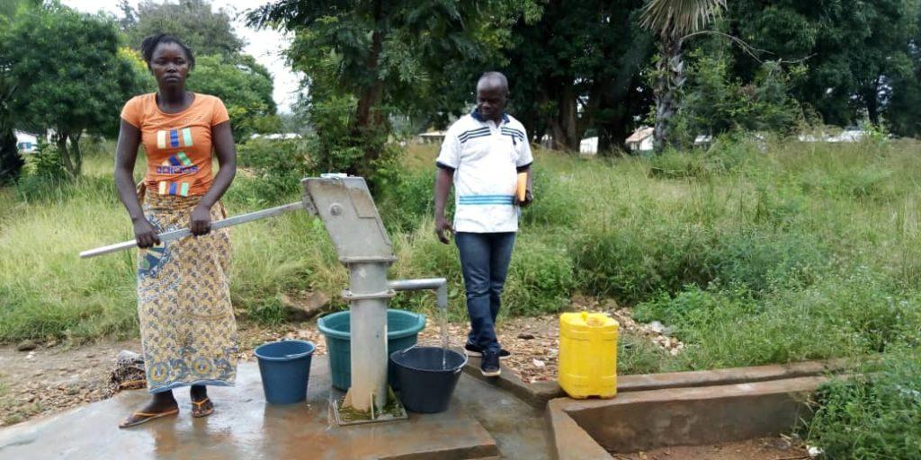 CENTRAFRIQUE, 2019 : Forage équipé de pompe à motricité humaine